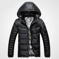 Wholesale Thick Fur Pearl Jacket - New Arrival Autumn And Winter Men's Down Jacket Solid Colors 90% White Duck Down Hooded Thick Clothing Male Casual Zipper Coats 616