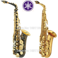 Wholesale alto sax - wholesale Promotions New High Quality Brand Alto Saxophone 875 Black Gold Professional E Sax mouthpiece With Case and Accessories
