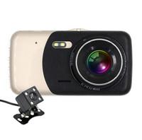 professionelle kamera vertrieb großhandel-10 stücke Professionelle Doppelobjektiv 4,0 Zoll 1080 P Auto Kamera High Definition Nachtsicht Auto DVR Fahren Recorder Auto Styling Heißer Verkauf