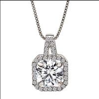 ingrosso gioielli in zircone-Collana in argento 925 con zirconi a forma di cobalto Collana con ciondolo femminile a forma di ciondolo clavicola orecchini, anelli, collane con diamanti