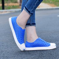 Wholesale Wholesale Fashion Plus Size Shoes - Wholesale-Summer Candy Color Fretwork Women & Men Garden Shoes For Male Female Clog Beach Gladiator Sandals Flip Flops Plus Size 36-44