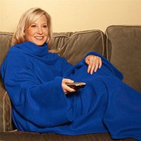 Wholesale Snuggie Blanket Wholesale - Super Soft Fleece SNUGGIE Blanket Wearable Sleeve Blanket Keep Wearable Sleeve Blanket Keep You Warm And Your Hand 4Colors