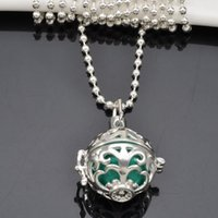 Wholesale Musical Lockets Wholesale - Multi Colors Mexican Bola Silver Plated Musical Pregnancy Pendant Necklace Angel Callers Sound Chime Necklace Harmony Ball Lockets