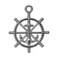 Wholesale Nana Free - Nickle And Lead Free Plated Anchor on Wheel & Word Nana Zinc Alloy Charms for DIY Jewelry Making 100PCS A Lot