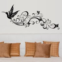 Wholesale flying birds art - Flying Bird Silhouette Wall Sticker Modern Bedroom Tv Background Living Room Waterproof Decorative Art Decals Mural