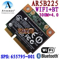 Atacado - Atheros AR5B225 WIFI Half MINI Cartão PCI-E Wireless Bluetooth 4.0 Exceed 6230 6235 300M wifi + 4.0BT