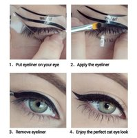 Wholesale LANBENA Fashion Eyeliner Template Eyeliner Card Eyeliner Stencil Eye Makeup Set Makeup Brushes Tools Eye Liner style
