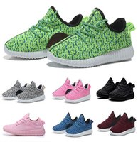 Kids West 350 Boost Sneakers Booties Baby 350 Shoes Дешевые мальчики девочки Breathable Running Sports Shoes Размер 24-35