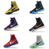 Wholesale High Top Boots For Women - 2017 kobe 10 Elite Weaving Retro Mens Basketball Shoes for Top Quality KB X High Training Sneakers Size 7-12 Free shipping