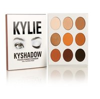 Wholesale fashion press - epacket! 9 Colors Kylie Eyeshadow Cosmetics Jenner Kyshadow pressed powder eye shadow Kit Palette Bronze fashion kylie jenner Makeup