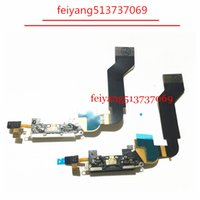 Wholesale Iphone 4s Charging Dock - 5pcs Original for iPhone 4s Dock Connector Charging Port Flex Cable Replacement Charger Flex