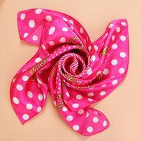 Wholesale Mixed Scarves Silk Flower - Mix Color square silk scarf flower floral print Vintage ER752 Charmeuse quare scarf silk satin 60*60cm silk scarves shawl