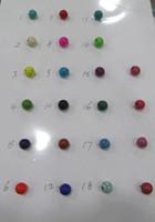 ingrosso pietre turchesi cabochon-ingrosso -2 fili 2-20mm Howlite Turquoise Cabochon Round Ball assortiti turchese pietra perline di pietra turchese
