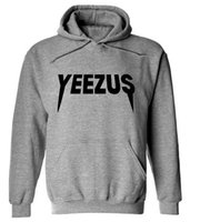 Wholesale Cheap Gray Hoodies - Cheap hoodies men women yeezus hoodie sweatshirt harajuku streetwear hip hop hooded fleece sweat kanye west hoodie