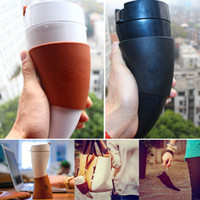 Wholesale Horn Cups Wholesale - 230ml Goat Horns Stainless Steel Thermos Mug Coffee Cup Horn Mug Traveling Bottle With Rope Insulation Cups Free Shipping WX9-23