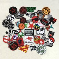 Wholesale Iron Rocks - Wholesale 24 pcs Mint Mix~Random cartoon rock punk Sport Car Racing Logo Patch Iron Sewing Decor
