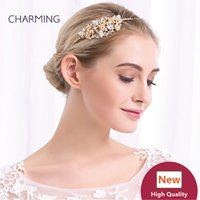 Wholesale Crystal Marketing - gold hair fascinators crystal hair clips bridal hair accessories best wholesale products china market online free shipping