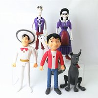 Wholesale Couples Figurines - Lot of 5 pcs Coco Movie PVC Action Figure Play set Toy Cake Topper Miguel Spirit Guide Dog Dante Imelda Couple Doll Figurine