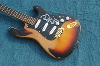Wholesale Electric Guitars Srv - 10S Custom Shop Limited Edition Stevie Ray Vaughan Tribute - SRV Number One No.1 Relic Handmade Electric Guitar