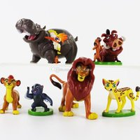 Wholesale Wholesale Sale Models Figures - 4-7cm New Hot Sale The Lion King Simba Pumbaa Timon PVC Action Figure collectible Model Toys for Kids Christmas Gift Free Shipping EMS