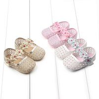 Wholesale Toddler Floral Boots - Wholesale- 2017 Summer Cotton Baby Girl Shoes Floral Hollow Soft Bottom Toddler Newborn Infant Boots First Walkers D21