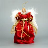 "Wholesale Ceramic Christmas Doll - Wholesale- Cosette Christmas Tree Topper Angel Decoration Home Ornament Porcelain Doll 10"""
