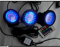 lâmpada do projector venda por atacado-Levou a luz do aquário RGB Holofotes Submersíveis Jardim Pond Pool Underwater Bulbo tanque de peixes lâmpada UE REINO UNIDO EUA AU Plug