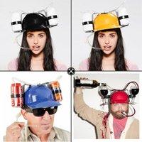 ingrosso cappelli unici del partito-Birra Colar Can Holder Bere Casco Bere Cappello Divertimento Fresco unico 5 colori Party Holiday Game Hat Cap