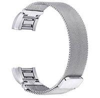 manyetik bilezik şarjı toptan satış-Fitbit İçin Manyetik Milanese Döngü paslanmaz çelik bilezik yedek bantları 2 50pcs şarj / lot