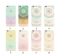 Wholesale Yellow Datura - For Apple iphone 7 plus 6S Back Cover Transparent Soft TPU clear patterns Datura Flower cases for samsung S7 S8 edge S6
