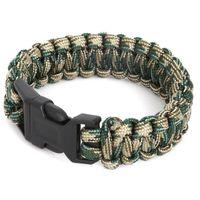 Wholesale Survival Bracelet Whistle Clasp - Wholesale- 5 Colors Camping Hiking Emergency Tool ParaCord Bracelet For Men Women Survival Parachute Rope Whistle Buckle Kit Wristbands