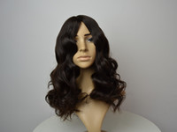 Wholesale Remy Silk Top Wigs - Soft hair long layer silk top Ukrainese remy hair natural color 4# Jewish Kosher human hair wig sheitel