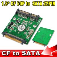 "Wholesale Cf Card Ide Adapter - 1.8 inch 50p IDE CF to SATA 22 Pin Adapter Compact Flash Type I II 50 pin to 2.5"" 7+15 Pin SATA SSD HDD Converter Card"