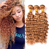 # 27 Honey Blonde Deep Wave Hair Bundles Глубокие волны Человеческие волосы для волос Virgin Double Blow Blonde Indian Curly Hair Bundles