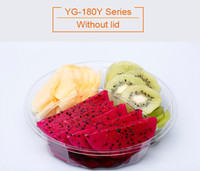 Wholesale Disposable Blister Pack - YG-180Y Top grade 3 compartments disposable plastsic blister salad packing container cut fruit box without lid