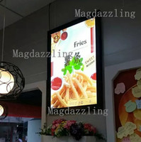 630mmx880mm black pizza box - 6PCS A1 Black Aluminum Frame LED Menu Board Advertising Lightbox Light boxes for Restaurant Fast food Store Pizza Shop