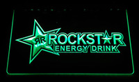 Wholesale Neon Drinks - LS2316-g-Rockstar-Energy-Drink-Beer-Bar-Neon-LIght-Sign Decor Free Shipping Dropshipping Wholesale 6 colors to choose