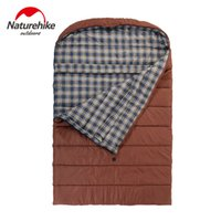 Wholesale Cotton Flannel Sleeping Bags - Wholesale- Naturehike Outdoor Family Style Travel Cotton Sleeping Bag 3 Season Envelope Type Double Flannel Sleeping Bag Ship By Express