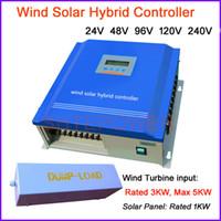 controlador de carga de energía al por mayor-3000w PWM 3kw Wind Controlador de carga híbrido solar, 24v 48v 96v 120v, administre la energía desde la turbina eólica y el panel solar hasta la batería
