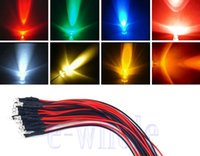 ingrosso diodo a 3 mm prefabbricato-MIX DC12V Acqua Clear 3mm Pre Wired LED Diode per Natale, Auto, Decorazione ecc
