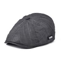 Wholesale Gatsby Hat Cotton - Wholesale-VOBOOM Mens Newsboy Octagonal Cap Gatsby Beret Hats Vintage Cabbie Golf Flat Cap BL041