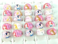 Wholesale Princess Resins - wholesale 200pcs lot Princess Resin Rings Children Girls kids Birthday Christmas Party Gift