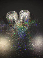 Wholesale Colors Nails Powder - 1g 3d Glitter Colors Holographic flakes with one Brush Nails Pigment Ultrafine laser Powder Magic Glimmer Nail Art Decorations Accessories