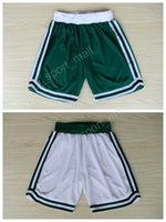 Wholesale White Basketball Pants - Boston 33 Larry Bird Basketball Shorts Green White Team Men 7 Jaylen Brown 4 Isaiah Thomas Pant Breathable All Stitched Running Short