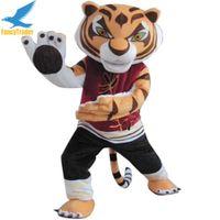 Wholesale Tiger Mascots Costumes - Fancytrader Promotion Hot Sale Kungfu Tigeress Mascot Costume Kung Fu Tiger Mascot Costume Free Shipping FT30007