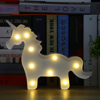 Wholesale Lumiparty Unicorn LED Table Lamp D White Unicorn Sign Hanging Light Marquee Letter Nightlight Home Party Decoration