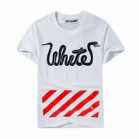 Wholesale High End T Shirts - 2017 summer new high-end men's brand t-shirt fashion short sleeve off white t-shirt fashion t shirt Men's Tops Tees