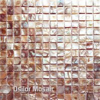 Wholesale 100 freshwater shell mother of pearl mosaic tile for interior house decoration wall tile bathroom and kitchen iridescent color shell mosaic
