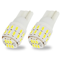 Discount smd led car auto - 2pcs W5W 194 168 2825 T10 3014 30 SMD LED Wedge Bulb For Car Interior Side Marker Lamp Auto Dome Reading Light White 6000K