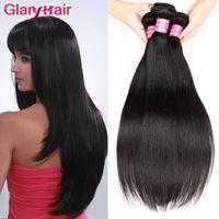 Wholesale Cheap Real Hair Pieces - Real Human Hair Extensions 8a Mink Brazilian Virgin Hair Bundles Straight Weave Cheap Remy Peruvian Hair Weave Bundles 5pcs Free Shipping